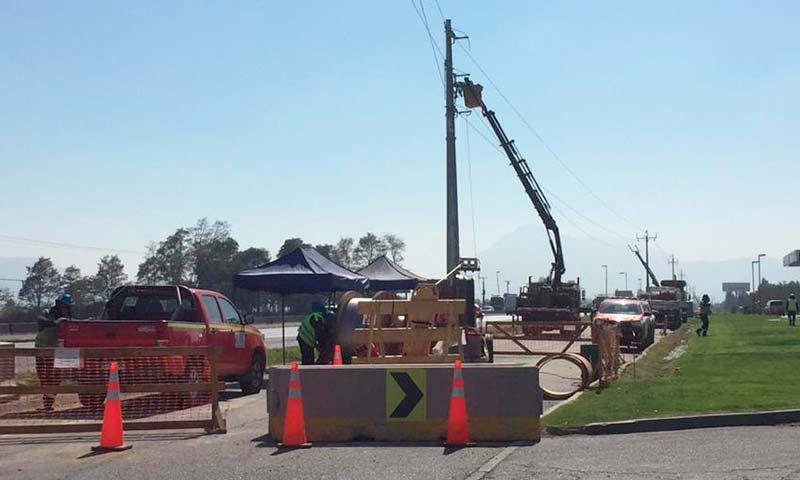 Trasladan 11 kilómetros de cables para ampliar ruta 5 sur