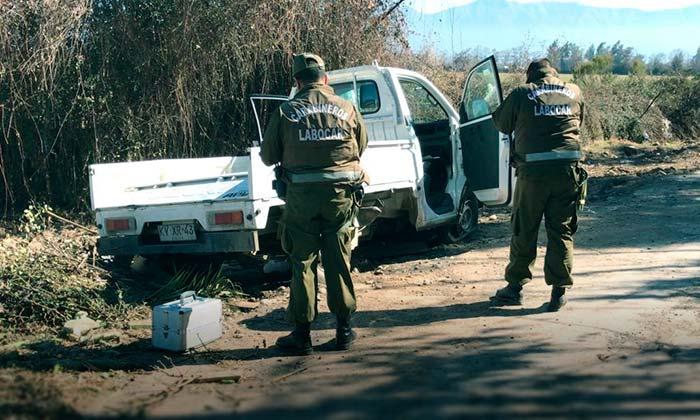 Carabineros encuentra vehículo robado a empresa avícola de Machalí