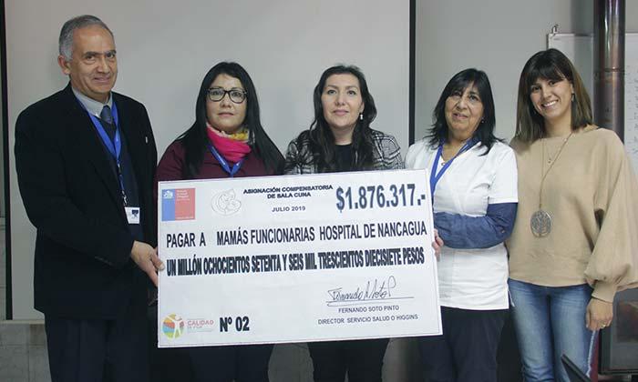 Funcionarias del Hospital de Nancagua reciben asignación compensatoria por derecho a sala cuna