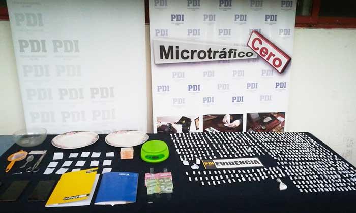 PDI incauta casi 2 mil dosis de drogas en Nancagua