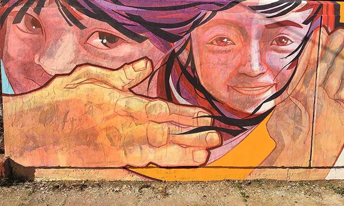 Pichilemu: Taller de muralismo en distintas zonas de la comuna