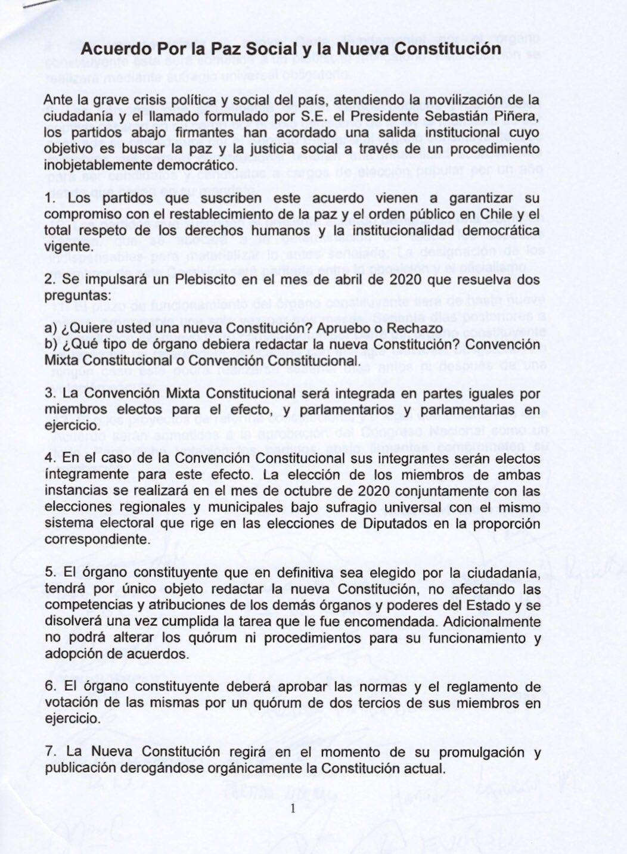 acuerdo por nueva constitucion