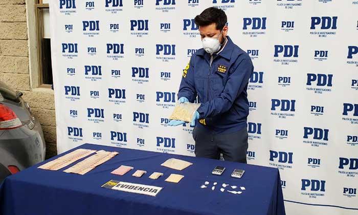 PDI incauta más de mil dosis de droga sintética