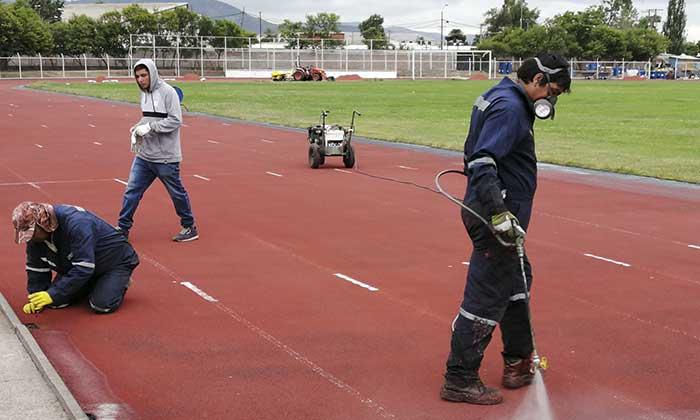 Pista atlética de San Fernando lleva 40% de avance