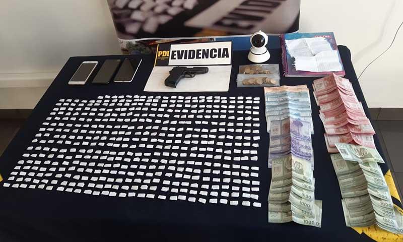 Detenido a matrimonio por comercializar drogas en Chépica
