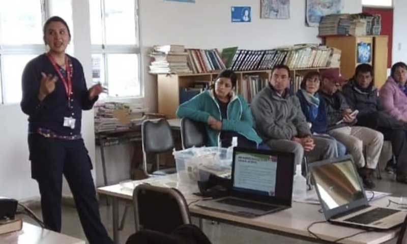 Hospital de Marchigüe efectuó charla informativa sobre el Convid-19