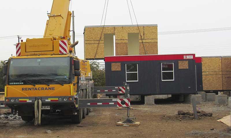 A paso rápido se construye un Hospital Modular en Rengo