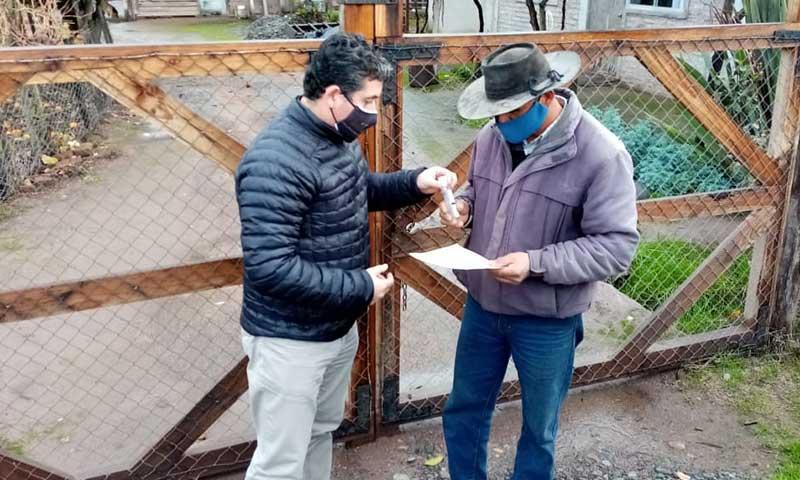 MOP O'Higgins cumple en adelantar entrega de tercer pago compensatorio a agricultores de Convento Viejo