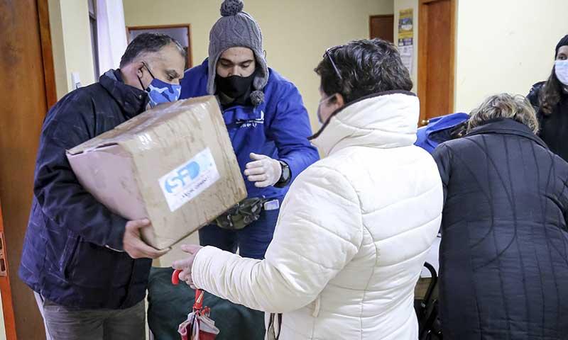 Municipalidad de San Fernando comenzó entrega de canastas familiares
