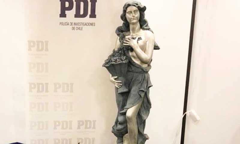 PDI detuvo a mujer por presunto encargo de robo de estatua
