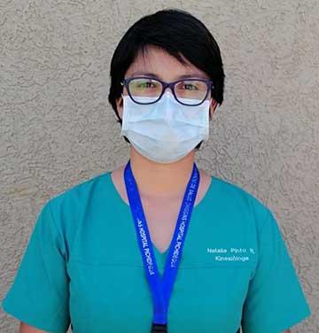 Natalia Pinto, Kinesióloga del Hospital de Pichidegua