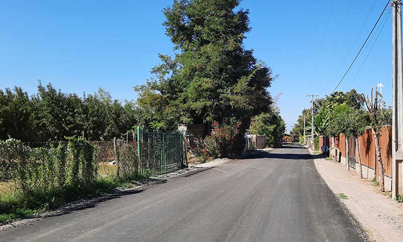 MOP O'Higgins cumple compromiso de pavimentación de camino La Gloria en Requínoa